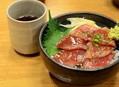 Japanese Cuisine, Raw Tuna On Rice