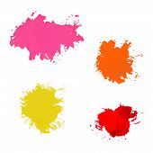 paint splash. Vector set of brush strokes