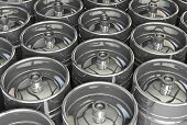 stock photo of keg  - Metal beer kegs  - JPG
