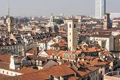 foto of turin  - A panoramic view from above of Turin - JPG