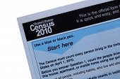 2010 Census Form Close-up