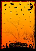 picture of happy halloween  - Festive illustration on theme of Halloween - JPG