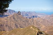 pic of parador  - Gran Canaria Caldera of Tejeda view from Cruz de Tejeda viewpoint - JPG