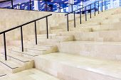 stock photo of staircases  - in an big building is there an long staircase - JPG