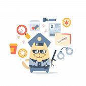 stock photo of police  - Character police in officer - JPG