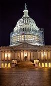 foto of laws-of-attraction  - US Capitol Dome with on Capitol Hill at Night in  Washington DC - JPG