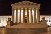 image of supreme court  - US Supreme Court Capitol Hill Night Stars Washington DC - JPG