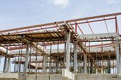 stock photo of 2x4  - New house construction structure decorations design building - JPG