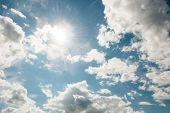stock photo of stratus  - Cloudscape of bright blue sky - JPG