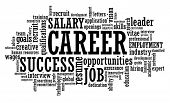 foto of text cloud  - Job Career Opportunity word cloud illustration - JPG