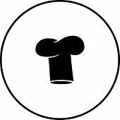 picture of chefs hat  - chef hat symbol - JPG