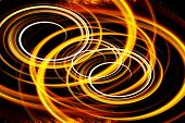 stock photo of fiery  - Beautiful bstract fiery circle on a black background - JPG