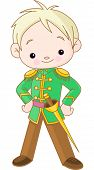 stock photo of prince charming  - Illustration of Charming prince boy holding a sword - JPG