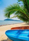 image of kayak  - Kayak at the beautiful tropical beach in Koh Chang - JPG