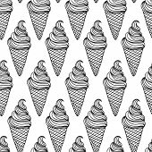foto of ice cream sundaes  - Vector ice cream background - JPG