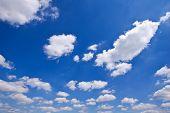 pic of cumulus-clouds  - Blue sky and clouds in summer season - JPG