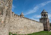 stock photo of apostolic  - Walls and belltower of Svetitskhoveli  - JPG