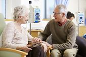 image of chemotherapy  - Senior Woman With Husband During Chemotherapy Treatment - JPG