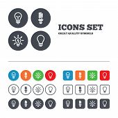 picture of fluorescence  - Light lamp icons - JPG