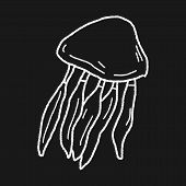 picture of jellyfish  - Jellyfish Doodle - JPG
