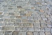 picture of cobblestone  - image of one Cobblestone Pavement at day - JPG