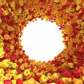stock photo of yellow-pepper  - Circular tunnel of yellow - JPG