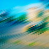 stock photo of diagonal lines  - blurred diagonal lines and color spots background - JPG