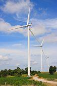 foto of generator  - Wind turbine power generator  - JPG