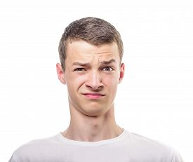 pic of disgusting  - Portrait of a disgusted man - JPG