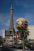 picture of las vegas casino  - The sprip in Las Vegas showing the tower Eifeil - JPG