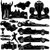 formula and race car vector