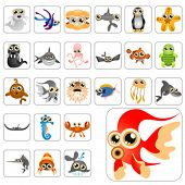 stock photo of cartoon character  - cartoon animals big set 1 - JPG