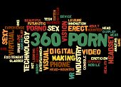 360 Porn, Word Cloud Concept 5 poster