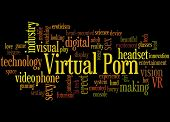 Virtual Porn, Word Cloud Concept poster
