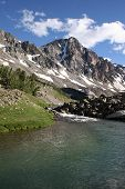 picture of beartooth  - taken over the west fork of the rock creek towards whitetail peak - JPG