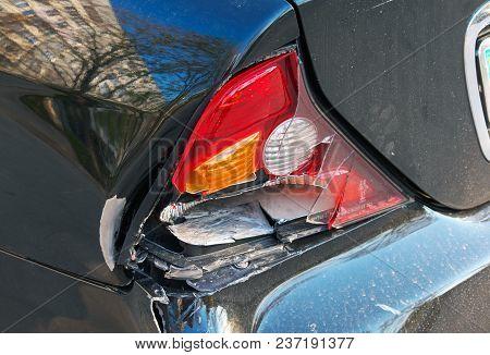 Closeup Back Of Car After