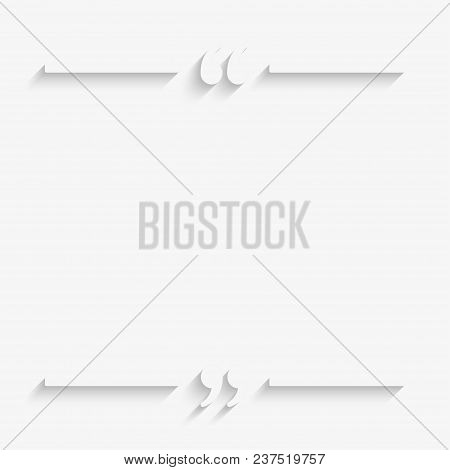poster of Vector Speech Bubble Quote Blank Template. Empty Quote Template. Business Quote Card Template, Infor