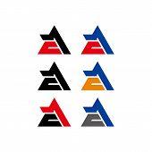 Letter Design Vector Logo Illustration Template Ae Or Ea, Vector Logo Letters, Vector Letters A And  poster
