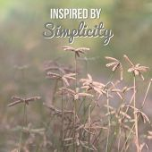 Inspirational Motivational Quote inspired By Simplicity On Wild Flowers Background. poster