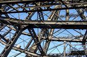Ferris Wheel, Steel Structure Close-up, Steel Beams poster