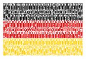 Germany Flag Collage Composed Of Test Tube Elements. Vector Test Tube Icons Are Organized Into Geome poster