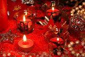 pic of christmas flower  - Candles fur - JPG