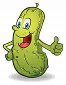 image of pickled vegetables  - A cheerful pickle man giving a thumbs up - JPG