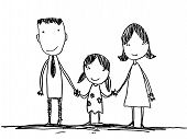 foto of cartoon people  - Family is small family is a powerful one at that - JPG