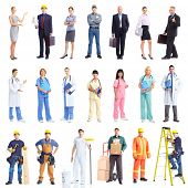 stock photo of factory-worker  - Industrial contractors workers people - JPG