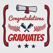 Graduate Banner And Poster Design. Congratulation Card For Graduates. Vector Illustration poster