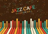 Artistic Jazz Night Background In Color. Poster For The Jazz Festival poster