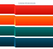 Design Business Presentation Template. Vector Illustration For Technology Infographics, Number Banne poster