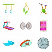 Resist Icons Set. Cartoon Set Of 9 Resist Vector Icons For Web Isolated On White Background poster