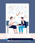 Handshake Concept. Business Persons Partnership Finance Agreement Vector Investment Relationship Fin poster